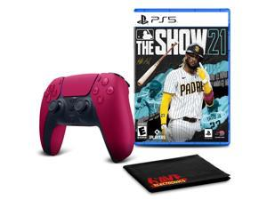 PS5 DualSense Wireless Controller (Cosmic Red)  with MLB The Show 21