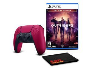PS5 DualSense Wireless Controller (Cosmic Red)  with Outriders Day One Edition