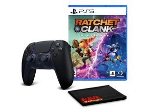 PS5 DualSense Wireless Controller (Midnight Black)  with Ratchet and Clank