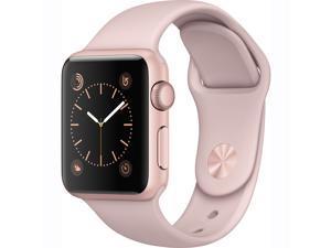 Apple Watch Series 1 w/ 38MM Rose Gold Aluminum Case & Midnight Blue Sport Band