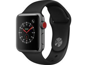 Apple Watch Series 3 GPS w/ 42MM Space Gray Aluminum Case & Black Sport Band