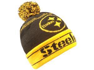 d2c4861847f Pittsburgh Steelers light-up LED pom pom knit hat