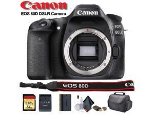 Canon EOS 80D DSLR Camera (Intl Model) (1263C004) - Starter Bundle