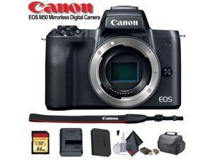 Canon EOS M50 Mirrorless Digital Camera (Intl Model) (2680C001) - Starter Bundle