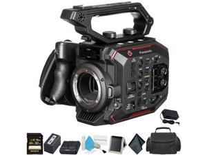 Panasonic AU-EVA1 Compact 5.7K Super 35mm Handheld Cinema Camera Body - Bundle with 32GB Memory Card + Carrying Case - Intl Model