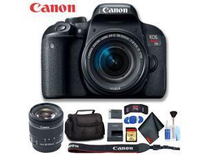 Canon EOS Rebel T7i DSLR Camera with 18-55mm Lens (Intl Model) Deluxe Bundle