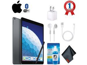 """Apple 10.5"""" iPad Air (Early 2019, 64GB, Wi-Fi Only, Space Gray) with Stylus Pen - Accessory Kit"""