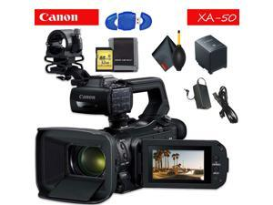 Canon XA50 Professional UHD 4K Camcorder Standard Accessory Bundle