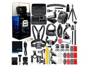 GoPro HERO8 Black Digital Action Waterproof Camera with 50 Piece Accessory Kit