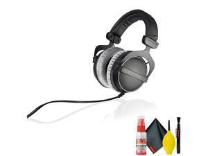 Beyerdynamic DT 770 PRO 250 Ohm Studio Headphone - Goby Labs Headphone Cleaner - Microfiber Cleaning Cloth