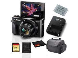 Canon PowerShot G7 X Mark II Digital Camera 1066C001 (International Model) + 8GB SDHC Class 10 Memory Card + Carrying Case + Memory Card Wallet + MicroFiber Cloth Bundle
