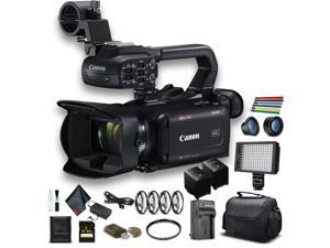 Canon XA40 Professional UHD 4K Camcorder W/ Extra Battery, Soft Padded Bag, 64GB Memory Card, LED Light, Close Up Diopters, Lenses, And More Advanced Bundle