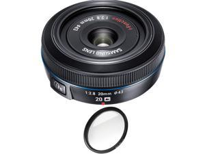 Samsung 20mm f/2.8 Pancake Lens for NX10 / NX100 (Black) with Pro Filter