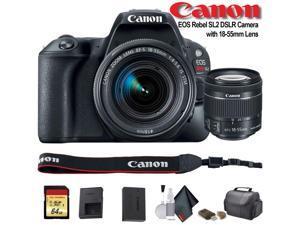 Canon EOS Rebel SL2 DSLR Camera with 18-55mm Lens (2249C002) - Starter Bundle