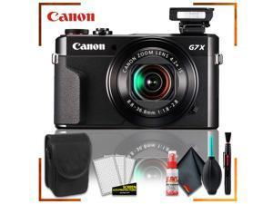Canon PowerShot G7 X Mark II Digital Camera (Intl Model) + Camera Case + Cleaning Kit