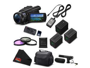 Sony FDR-AX700 4K HDR Camcorder w/3.5 Inch LCD (FDR-AX700/B) Advanced Bundle- International Version (No Warranty)