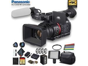 Panasonic 4K Camcorder W/ Padded Case, 128 GB Memory Card, Lens Attachments, Wire Straps, LED Light, And More�