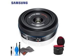 Samsung 20mm F.8 Pancake Lens F/NX (Black) - Standard Bundle