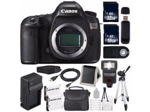 Canon EOS 5DS DSLR Camera (International Model ) 0581C002 + LP-E6 Battery + External Rapid Charger + 32GB Card + 16GB Card Bundle