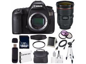 Canon EOS 5DS DSLR Camera (International Model ) 0581C002 + Canon EF 24-70mm f/2.8L II USM Lens + LP-E6 Battery + 64GB SDXC Class 10 Memory Card Bundle