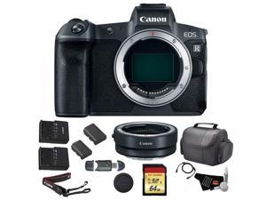 Canon EOS R Mirrorless Digital Camera (Body Only) Bundle w/ Mount Adapter + 64GB Memory Card + Replacement Battery & more