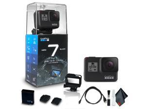 gopro hero7 black  waterproof action camera with touch screen, 4k hd video, 12mp photos, live streaming and stabilization  base bundle