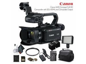 3666C002 LED Light 4K Monitor Soft Padded Bag 64GB Memory Card Sony Mic and More Advanced W//Mic Bundle Sony Headphones Canon XA40 Professional UHD 4K Camcorder W// 2 Extra Battery Filter Kit