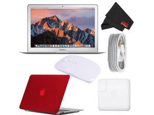 "Apple 13.3"" MacBook Air 128GB SSD #MQD32LL/A (Newest Version 2017 Model) Red Bundle"