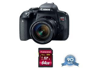 Canon EOS Rebel T7i DSLR Camera with 18-55mm Lens - with Memory Card