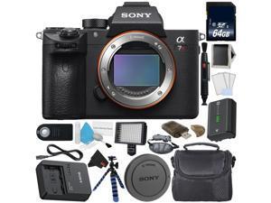 Sony Alpha a7R III 42.4MP Full Frame Mirrorless Interchangeable - Lens Digital Camera Body - Bundle with 64GB Memory Card (Intl Model)
