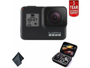 GoPro HERO7 (Black) � Waterproof Digital Action Camera with Touch Screen 4K HD Video 12MP Photos Live Streaming Stabilization - Bundle