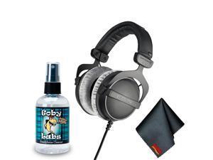 Beyerdynamic DT 770 PRO 80 Ohm Studio Headphone - Goby Labs Headphone Cleaner - Microfiber Cleaning Cloth