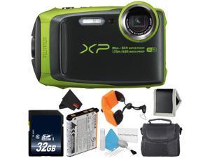 Fujifilm FinePix XP120 Waterproof Point & Shoot Digital Camera (Lime) Pro Bundle