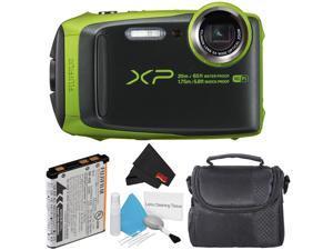 Fujifilm FinePix XP120 Waterproof Point & Shoot Digital Camera (Lime) Starter Bundle