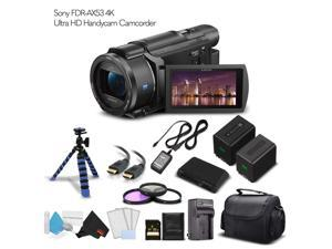 Sony FDR-AX53 4K Ultra HD Handycam Camcorder (Intl Model) With Extra Battery, Case, Memory Card and More. - Starter Set