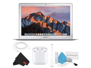 "Apple 13.3"" MacBook Air (Mid 2017, 256GB SSD, Silver) Basic Bundle w/ Apple Airpods"