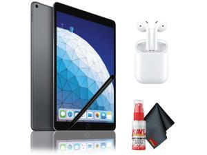 "Apple 10.5"" iPad Air (Early 2019, 64GB, Wi-Fi Only, Space Gray) with Airpods 2, Stylus and Cleaning Kit"
