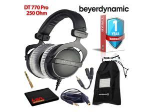 Beyerdynamic DT 770 Pro 250 Ohm Headphones with Splitter and 3-Year Warranty