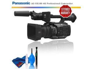 Panasonic AG-UX180 4K Premium Professional Camcorder + Extended Warranty
