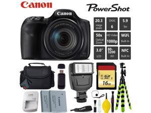 Canon PowerShot SX540 HS Digital Point and Shoot 20MP Camera + Extra Battery + Digital Flash + Camera Case + 16GB Class 10 Memory Card - Intl Model