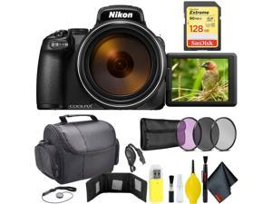 Nikon COOLPIX P1000 Digital Camera + 128GB Sandisk Extreme Memory Card Travel Kit Intl Model