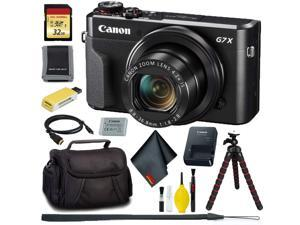 Canon PowerShot G7 X Mark II Digital Camera + 32GB Memory Bundle