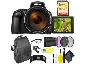 Nikon COOLPIX P1000 Digital Camera + 128GB Sandisk Extreme Memory Card Extreme Kit Intl Model