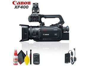 Canon XF400 UHD 4K60 Camcorder with Dual-Pixel Autofocus Base Accessory Kit
