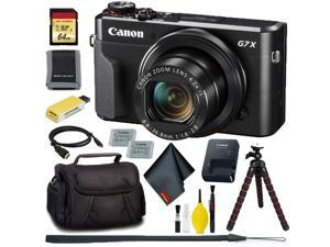 Canon PowerShot G7 X Mark II Digital Camera + 64GB Memory + Extra Battery Bundle