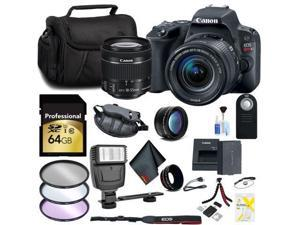 Canon EOS Rebel SL2 DSLR Camera with 18-55mm Lens 64GB Memory Card, Telephoto, Wide Angle Lenses, Filters and Accessory Bundle