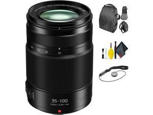 Panasonic Lumix G X Vario 35-100mm f/2.8 II Power O.I.S. Lens + Deluxe Lens Cleaning Kit