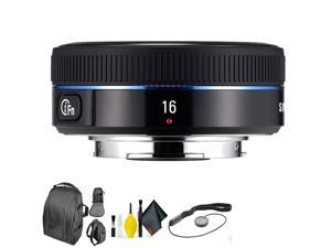 SAMSUNG 16mm f/2.4 Black + Deluxe Lens Cleaning Kit