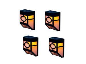 Solar Powered Outdoor Landscape Light for Garden Yard Fence, Warm, Set of 4