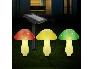 Outdoor solar garden mushroom lamp ,solar LED ,solar decorative lamp is suitable for garden yard backyard